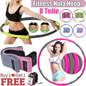 8 Teile Hula Hoop Reifen Training Sport Hoola Hoops Bauchtrainer Fitness Band