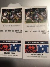 2001 Date TBA CHICAGO BEARS NFC Playoff Tickets Pair Soldier field