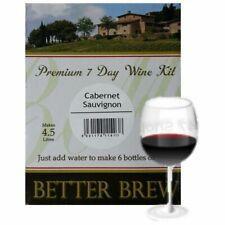 Better Brew Cabernet Sauvig 6 Bottle Wine Kit 4.5 Litres Homebrew Just Add Water