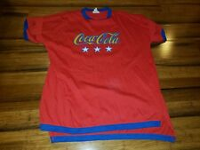 Vintage Coca-Cola T Shirt Yellow Red Blue coke Color Block Ringer One Size