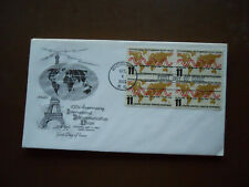 1965 Intl Telecommunication Union First Day Issue Envelope and Stamps Paris