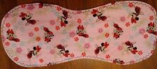 Minnie Mouse handmade burp cloth cotton & double flannel