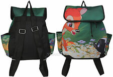 NEW Disney BAMBI DEER Meets FLOWER Fashion Backpack Slouch Book Bag Drawstring