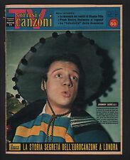 SORRISI CANZONI 15/1960 DORELLI HELENE CHANEL RASCEL ANGELINI TARANTINO RAVIART