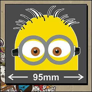 PEEPING MINION Sticker Decal Despicable Me Family Car Truck Wall Window Funny