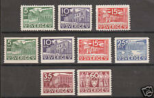 Sweden Sc 239-47 MLH. 1935 Buildings, LH & mostly VF