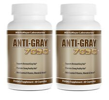 2 Pack Anti Gray Hair 7050 Saw Palmetto Catalase Horsetail Max Strength Natural