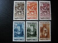 SAAR SAARLAND Mi. #151-154, 156, 157 mint stamp lot! CV $180.00