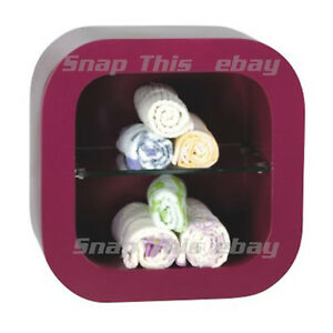 Wall Mounted Rack Storage Shop Salon Barber Shelf Unit Display Nail Towel Rail
