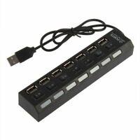 7 Port USB Hub Multi Séparateur High Speed puissance pour Wiko Cerf-Volant 4G