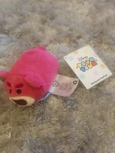 Disney Tsum Tsum Pixar Toy Story 3 Lotso Bear Mini Soft Toy Plush Beanie new tag