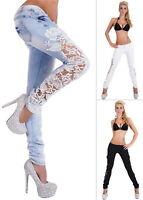 Realty Denim Women's Lace Insert Skinny Jeans - S/M/L