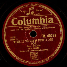 INK Spots this is worth fighting for/ev 'ry night about this time 78rpm s8354