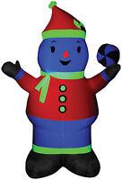 CHRISTMAS SANTA NEON SNOWMAN AIRBLOWN INFLATABLE YARD DECORATION