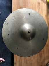 """K Zildjian Istanbul Vintage Ride/Crash Cymbale 15"""" avec questions, rivets pas de prix de réserve"""