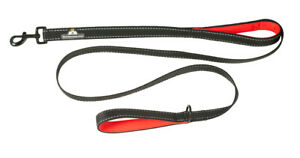6 Foot Long Dog Leash, Double Handle Neoprene Padded, 3mm Extra Thich Nylon