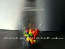 25 Pcs 4x6 Stand Up Pouches 4 Mil Freezer Zipper Bags (CSUP-A) - CLEAR-Clear