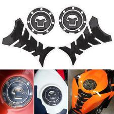 2x`Motorcycle Universal 3D Carbon Fiber Gel Gas Fuel Tank Pad Protector Sticker@