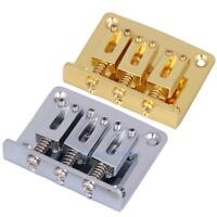3-string Fixed Bridge Tailpiece w/ Screws for Cigar Box Electric Guitar Durable