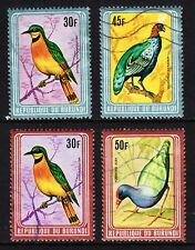 BURUNDI — SCOTT 585v — 1980 BIRDS WITH METALLIC FRAMES — USED