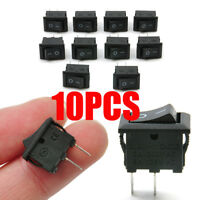 10pcs/lot Black 10*15mm 2PIN ON/OFF Boat Rocker Switch Car Dash Dashboard Truck
