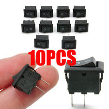 Lots 10 Pcs SPST ON/OFF Switch Mini Black 2 Pin Rocker Switch DC 12V 16A 10x15mm