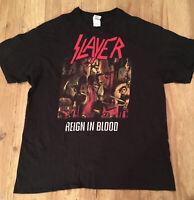 JEFF HANNEMAN Mens HOODIE Slayer Reign in Blood Guitar Rock Unisex Top Tee