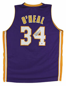 Shaquille O'Neal Authentic Signed Purple Pro Style Jersey Autographed BAS