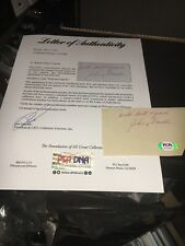 Johnny Farrell 1928 US Open Winner Signed 3x5 index Card PSA DNA