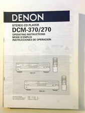Denon DCM-270 DCM-370 CD Player Owners Manual *Original*