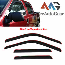 AAG Window Visor Guard For 1999-2016 Ford F-250 SuperCrew Crew Cab In-Channel