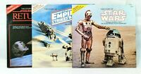 STAR WARS The Story Of Vinyl Record Trilogy Set of 3 - ESB, ROTJ, ANH