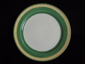 """Herend Pottery Elizabeth Roache Green 12 3/4"""" Round Charger Platter Plate EXC"""