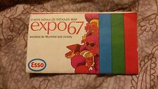 Vintage EXPO 67 Montreal Canada 1967 ESSO Detailed Map Imperial Oil Limited