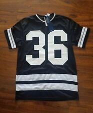 H&M Divided Striped Mesh Polyester Short Sleeve Jersey Mens Size S BLACK LongFit