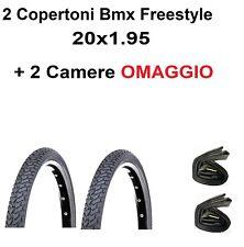 2 copertoni bici 20 BMX Freestyle 20x1.95 Deestone D805 stradale Nero 2 camere