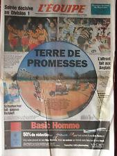 L'Equipe du 29/5/1995 - Soirée décisive en D.1 - Ouverture Roalnd Garros -
