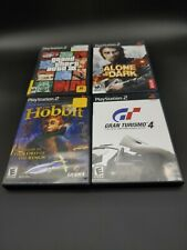 Lot of 4 complete PlayStation 2 PS2 Games: Hobbit, Gran Turismo 4, GTA 3, Alone