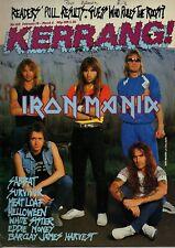 Iron Maiden on Kerrang No: 140 Cover 1987  Berlin  Sabbat  Survivor White Sister