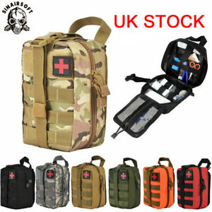 Tactical Molle Rip Away EMT IFAK Medical Pouch First Aid Kit Utility Bag UK Send