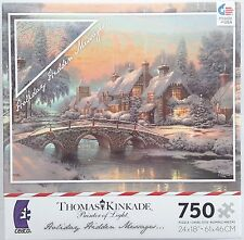 CEACO® 750pc KINKADE • COBBLESTONE CHRISTMAS • HIDDEN MESSAGES • PUZZLE Jig Saw