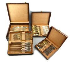 E10222 original WMF postre cubiertos 48 piezas con monograma LV 90er plata tirada