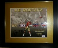 Joe Montana Signed 49ers 13x15 Custom Framed Photo Display PSA/DNA COA