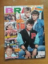 """BRAVO"" Rivista 52/1985 =WHAM DURAN DURAN POSTER A-HA ELTON JOHN  DEPECHE MODE"