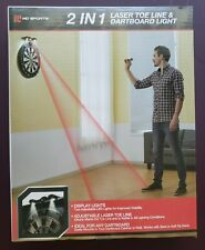 Sports Dartboard Games 2 in 1 Display LED Light & Laser Toe/Throw Line Marker