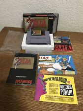 Snes Super Nintendo The Legend Of Zelda A Link To The Past CIB Complete
