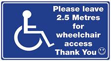 Wheelchair /Disability Car window Sticker (Access Required For WHEELCHAIR )