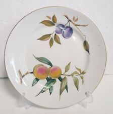 Royal Worcester Evesham Gold  Dinner Plate Plums/Peaches Fruit England