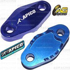 Apico Blue Brake Hose Brake Line Clamp For Husqvarna TE 300 2017 17 Enduro
