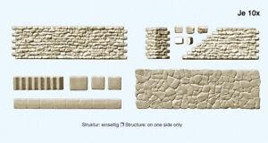 Preiser 18219 H0 Walkway And Bruchsteinmauer. Kombinationsbausatz # New IN Boxed